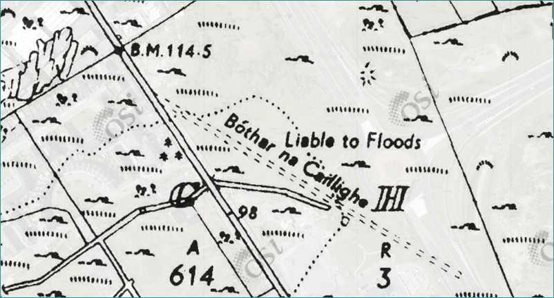 Hag's Road, Cassini Map